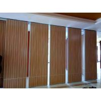 China Interior Wood Folding Doors Office Acoustic Room Dividers ,  Sound Proof Movable Partition Walls on sale
