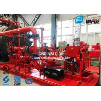 China Red Skid Mounted Fire Pump 3000GPM With Split Case Firefighting Pump Sets on sale