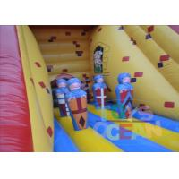 Quality Yellow Giant Inflatable Slide Rental / Adult Bouncy Inflatable Dry Slides for sale