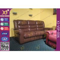 China High Density Sponge Seat Back Home Theater Sofa ,Brown  Leather Electric Recliner Chair wholesale