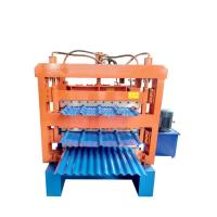 China Three layer corrugated roof tile roll forming machine/aluminum metal roofing sheet making machine wholesale