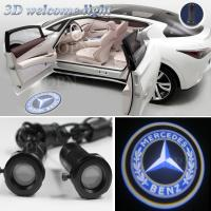 China 6500 - 7000K Led Car Door Projector Light Car LED Logo Lights 12V 3W wholesale