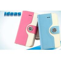 China Flip Apple iPhone Leather Cases / Wallet Cover For iPhone 5 wholesale