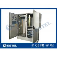 China Two Bay Structure Outdoor Telecom Cabinet Galvanized Steel PEF Heat Insulation on sale