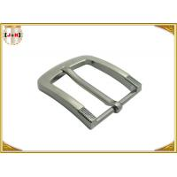 China Simple Pin Style Custom Logo Engraved Metal Belt Buckle 40MM for Man wholesale