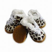 China Winter Warmly Fleece Dog Shoes, Made of PU and Fleece Instep and Non-skid Sole on sale