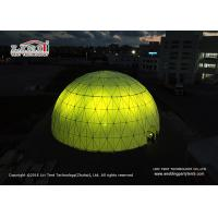 China Colorful Lightweight Geodesic Dome Tents With Transparent Cover  Dia 30 - 60m wholesale