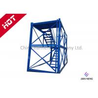 China 3m* 2m * 2m Steel Safety Construction Cage , Scaffolding Step Ladder Cage With Safey Wire Guard wholesale