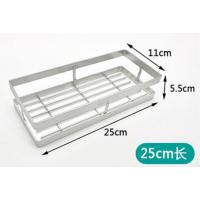 China Sanitary Shampoo Bathroom Corner Rack , Large Capacity Chrome Bathroom Shelf wholesale