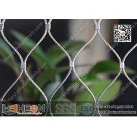 China SS316 / SS304 1.5mm Stainless Steel Ferrule Rope Mesh with 80X139mm Mesh Opening wholesale