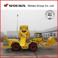 China WOLWA brand 1 cubic meters self loading mobile concrete mixer price on sale