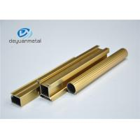 China Standard Polishing Golden Extruded Aluminum Framing For Decoration GB5237.1-2008 wholesale