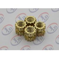 China High Precision Turned Parts Gear Shape Brass Nuts 0.395*0.435 Inch wholesale