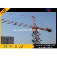 China External Climbing Tower Crane , Hammerhead Fixed Tower Cranes 400m Rope Length wholesale