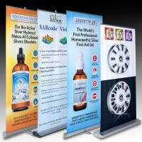 China Retractable Banner Stands , advertising aluminum roll up banner stand wholesale