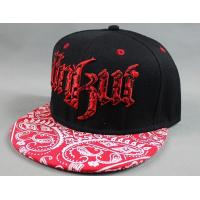 China Red Amoeba Printing Hip Hop Baseball Caps 3D Flat Embroidery For Adult wholesale