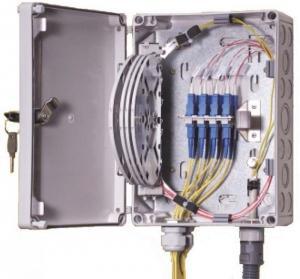 China IP55 OF Indoor / Outdoor Fiber Termination Box ,8 Fibers Small Optical Termination Box wholesale
