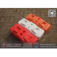 China Orange Color BLOW Mould Plastic Temporary Fencing Feet | China Temporary Fence Feet Factory wholesale