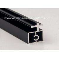 China Black Anodized Extruded Aluminium Profiles Channel Irregularity Shape Long Durability on sale