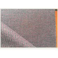China Red And Gray Tartan Wool Fabric Houndstooth Classical For Mens Formal Suits wholesale