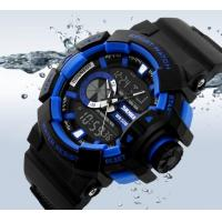 Quality New Fashion Men Water Resist 50M Chrono Sport Watch Multifunction Dual Time Alarm PU Strap Watch 1117 for sale