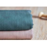 China Slub Plain 100 Cotton Canvas / Semi - Bleached Dyeing Cotton Fabric wholesale
