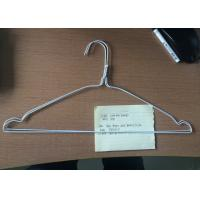 China Metal White Wire Hangers Q195 Steel Material For Laundry 16 / 18 Inches wholesale
