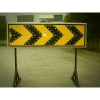 China Curve Guidance LED Flashing Arrow Board Customized Solar Road Sign 400×1200 mm wholesale