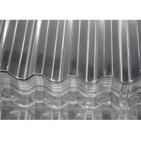 China Aluminum Magnesium Corrugated Roof Panels / Metal Roofing Sheet Width 500 - 1500 mm wholesale