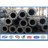 China Hot Roll Steel Metal Utility Poles , 345Mpa Min Yield Stress Electrical Poles And Towers wholesale