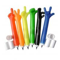 finger shaped plastic penfor promotional use,logo can be printed