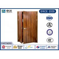 China Customized Size External Wooden Fire Doors Environment Friendly Scratch Resistance on sale
