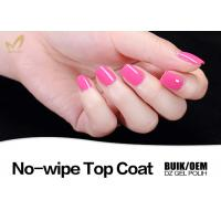 China Environmental Friendly UV Top Coat Nail Polish No Yellowish OEM & ODM Availabe wholesale