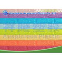 China Mixed Color 3D Self Adhesive Brick Foam Wallpaper / Panel Heat Isolation For Bedroom wholesale