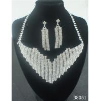 China OEM European Standard Silver Jewelry Crystal Necklace and Earring Set for Party wholesale
