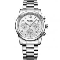Quality MEGIR Ladies AVANT-GARDE Fashion Steel Strap Chronograph Watererproof 30m Casual for sale