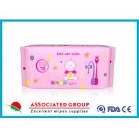 China Multi Pack Baby Wet Wipes For Face , Reusable Wet Wipe Tissues wholesale