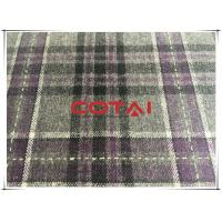 "China Flannel Thin Purple And Gray Big Tartan One Sided Wool Fabric 30w 57/58"" wholesale"