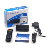 China FREESAT V7HD DVB-S2 satellite receiver IPTV USB wifi support biss,patch and key edit on sale