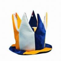 China Fun Party Hat, Available in Various Colors, Suitable for Parties, Made of 100% Polyester wholesale