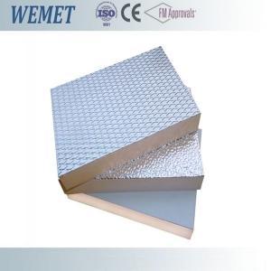 20MM HVAC air duct fire retardant phenolic foam insulation board with aluminum foil