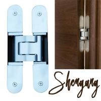China 180 degree 3d adjustable invisible hinge for concealed door on sale