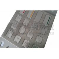 China Outdoor ATM Number Pad , Stainless Steel Keypad With Etched And Colored Graphics wholesale