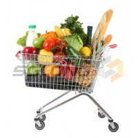 Buy cheap Customizable Metal Shopping Cart Baskets Unfolding ISO9001 Certification from wholesalers