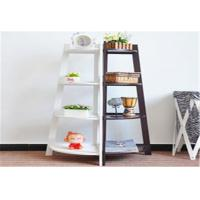 China Freestanding Storage Rack Shelf Wooden Corner Display Shelf With 4 Tier wholesale