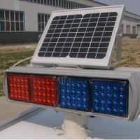 China Double Faces Solar Traffic Warning Light , Flashing LED Solar Powered Sign Lights wholesale