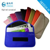 China Custom RFID Travel Bags , Credit Card Protector Wallet 19.5*9 Cm wholesale