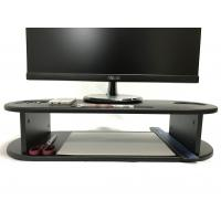 China Oval Shape Computer Monitor Riser Customized Color With Cut - Out Slots wholesale