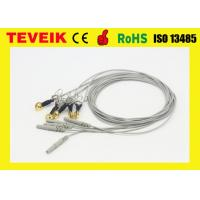 China DIN1.5 Socket Gold Plated Copper Ear-clip EEG Cable, Waterproof EEG cable on sale