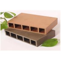 China UV Resistant Hollow Wood plastic Composite Decking , Waterproof Hollow Decking Boards wholesale